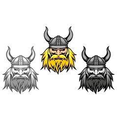 Agressive viking warriors vector image vector image