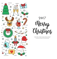 Christmas colored isolated concept flyer card vector image vector image