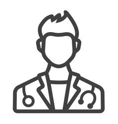 doctor line icon medicine and healthcare vector image