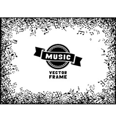 Music frame vector image vector image
