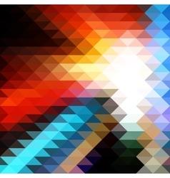 Triangular Mosaic Background vector image vector image