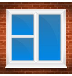 Window in brick wall vector image
