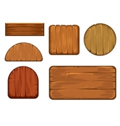 Wooden retro labels set Different shapes vector image vector image