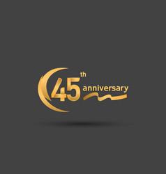 45 years anniversary logotype with double swoosh vector