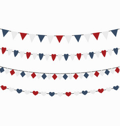4th july bunting banners set vector image