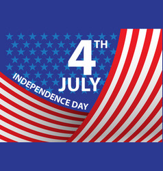4th july independence day of the usa curve vector image