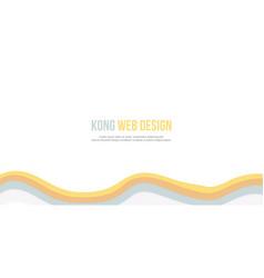 Abstract background for header website wave design vector