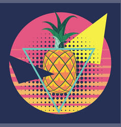 abstract pineapple geometric design vector image