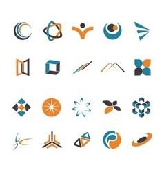 abstrak logo vector image vector image
