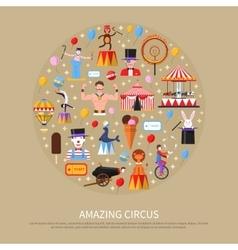Amazing Circus Concept vector image