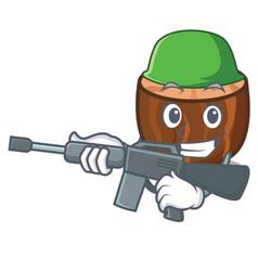Army nutmeg character cartoon style vector