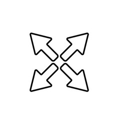 arrows line icon black vector image