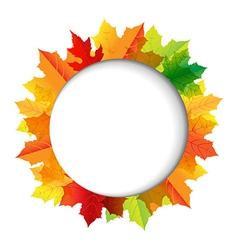 Autumn Composition With Speech Bubble vector image