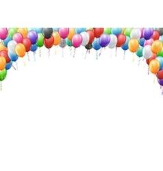 Balloons header template vector image