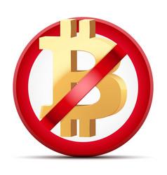 Ban cryptocurrency bitcoin vector