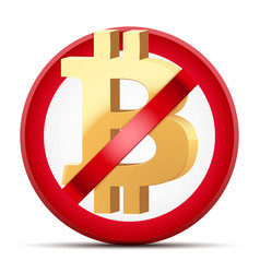 Ban of cryptocurrency bitcoin vector