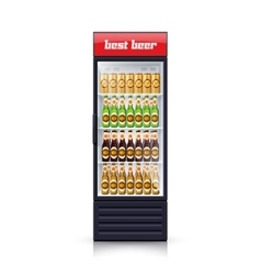 Beer Fridge Dispenser Realistic Icon vector
