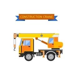 Building under construction crane machine technics vector image