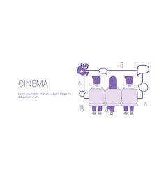cinema web banner with copy space leisure time vector image