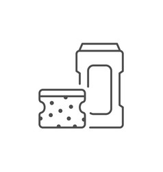 cleaning accessories line outline icon vector image