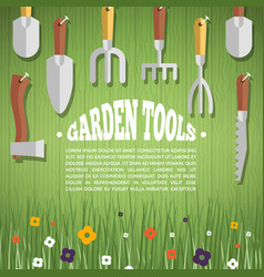 Concept of gardening garden tools vector