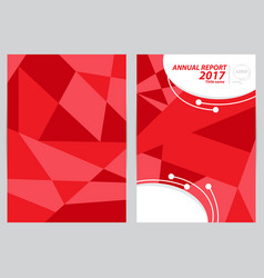 Cover template size a4 vector