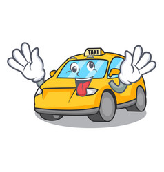 Crazy taxi character mascot style vector
