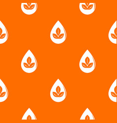 drop eco pattern orange vector image