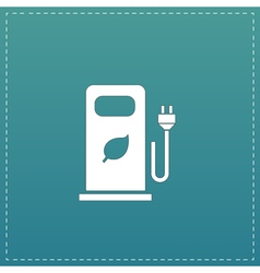 Electric car charging station or Bio fuel petrol vector