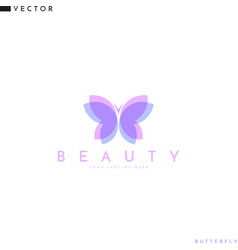 flying butterfly logo vector image