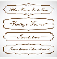 frames set design with text vector image