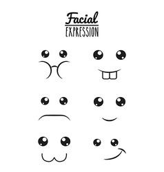 fun expression facial vector image