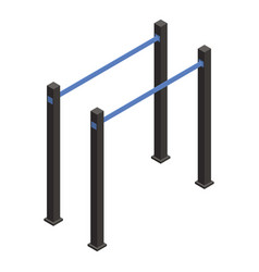 Gymnastic parallel bar icon isometric style vector