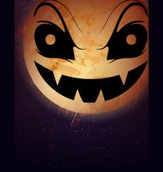 halloween moon background vector image