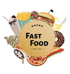 Hand drawn fast food design vector