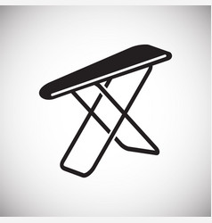 ironing board icon on white background for graphic vector image