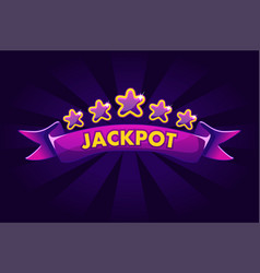 jackpot banner background for lottery or casino vector image