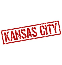 Kansas City red square stamp vector image