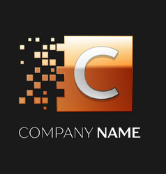 Letter c logo symbol in the colorful square vector
