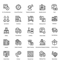 logistic delivery icons set 10 vector image