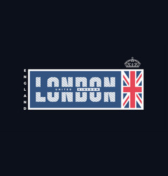 London united kingdom t-shirt printing design on vector
