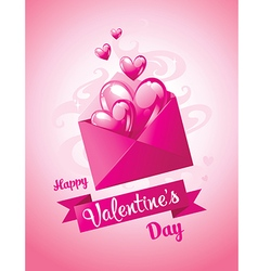 Love letter Valentines Day card vector image
