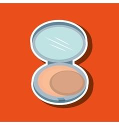 make up woman design vector image