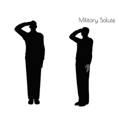 Man in salute pose on white background vector