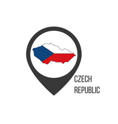 Map pointers with contry czech republic czech vector