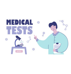 Medical tests laboratory flat design scientific vector