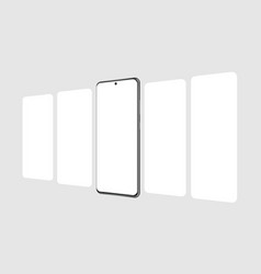 Modern smartphone with blank app screens vector