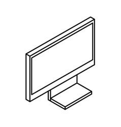 Monitor computer isometric icon vector