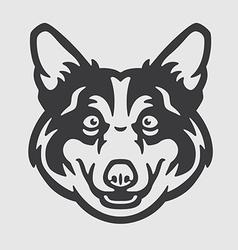 Pembroke Welsh Corgi Head Logo Mascot Emblem vector