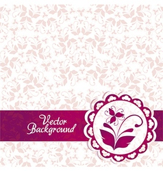 Pink and purple vintage elegant ornament backgroun vector image